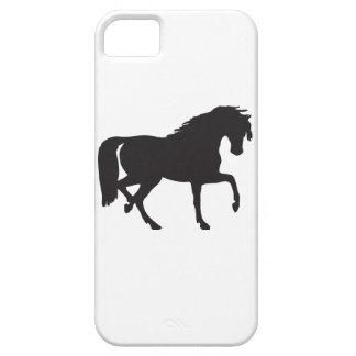 ¡Silueta del caballo - cambie el color de fondo! iPhone 5 Fundas