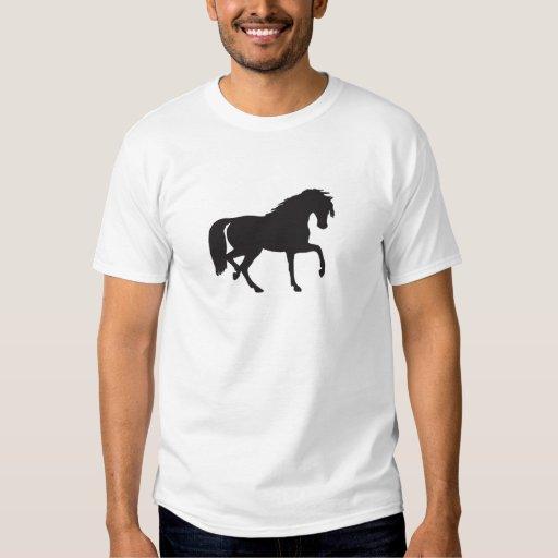 ¡Silueta del caballo - cambie el color de fondo! Playera