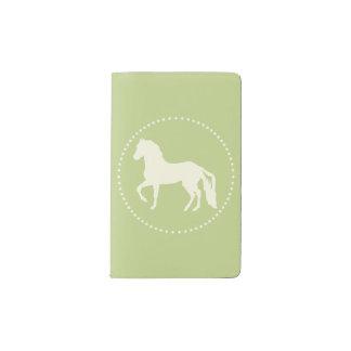 Silueta del caballo de Paso Fino Funda Para Libreta Y Libreta Pequeña Moleskine