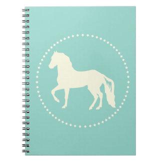 Silueta del caballo de Paso Fino Spiral Notebook