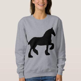 Silueta del caballo de proyecto sudadera