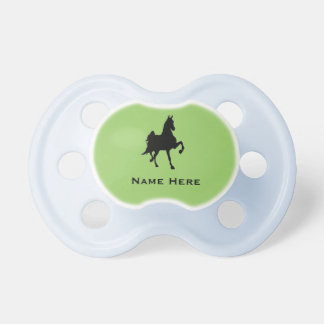Silueta del caballo de Saddlebred Chupetes Para Bebés