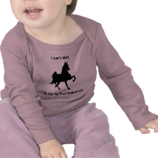 Silueta del caballo de Saddlebred Camisetas