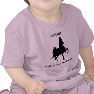 Silueta del caballo de Saddlebred Camiseta