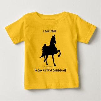 Silueta del caballo de Saddlebred Playera Para Bebé
