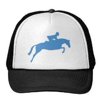 Silueta del caballo del puente (azul) gorra