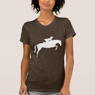 Silueta del caballo del puente (blanca) camiseta