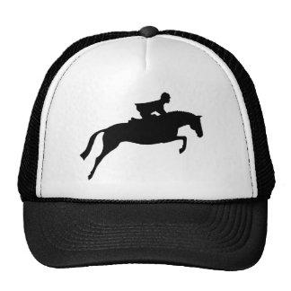 Silueta del caballo del puente gorra