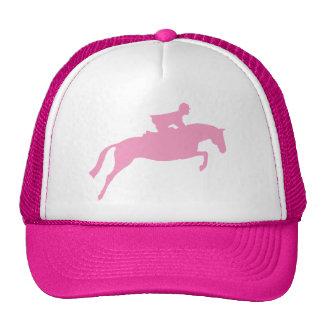 Silueta del caballo del puente (rosa) gorras de camionero