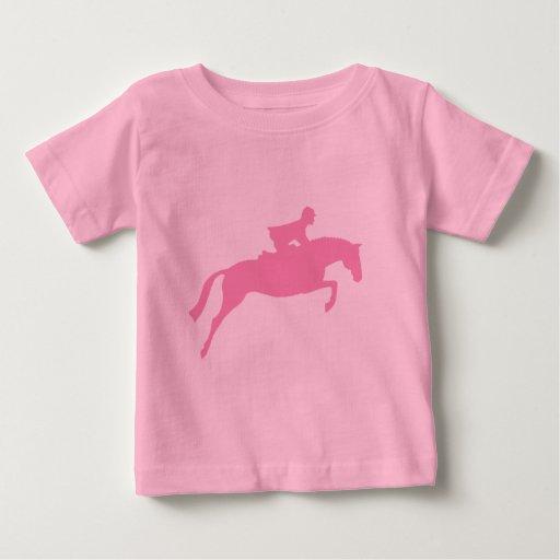 Silueta del caballo del puente (rosa) playera