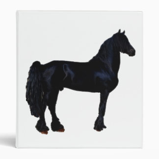 "Silueta del caballo en blanco y negro carpeta 1"""