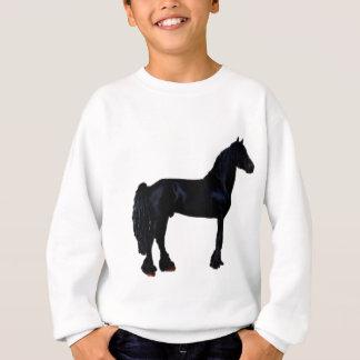 Silueta del caballo en blanco y negro playeras