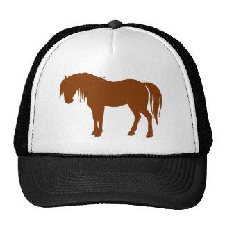Silueta del caballo en Brown Gorros Bordados