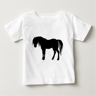 Silueta del caballo en negro camiseta