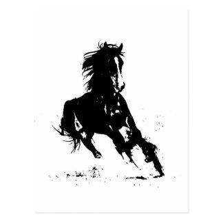 Silueta del caballo postal
