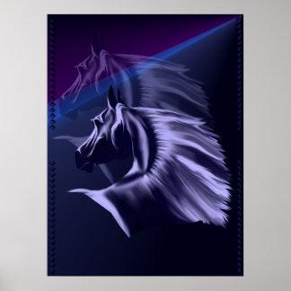 Silueta del caballo sombreada impresiones