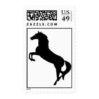 Silueta del caballo timbres postales