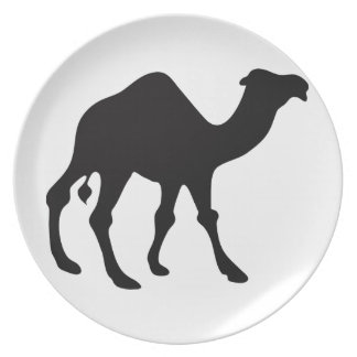 Silueta del camello platos
