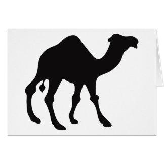 Silueta del camello tarjeta de felicitación