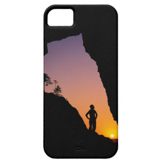 Silueta del caminante, punto de los arcos, iPhone 5 Case-Mate coberturas