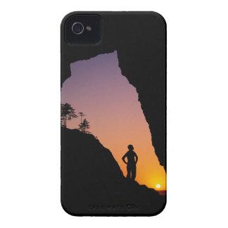 Silueta del caminante, punto de los arcos, Case-Mate iPhone 4 fundas