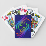 Silueta del cangrejo de Chionoecetes Opilio Baraja Cartas De Poker