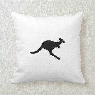 Silueta del canguro almohada