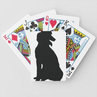 Silueta del caniche baraja de cartas
