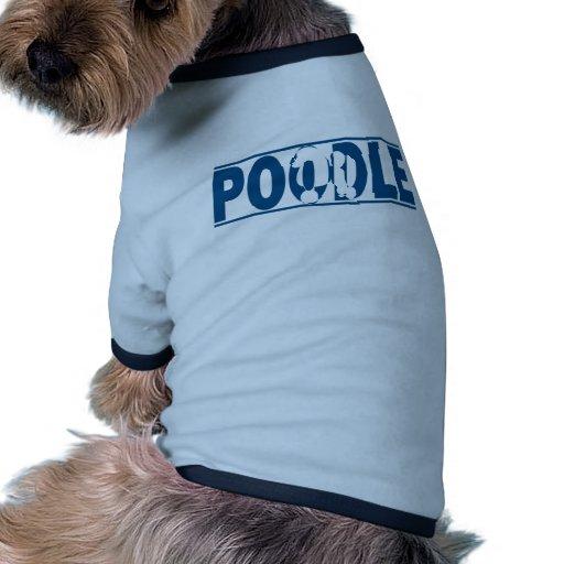 Silueta del caniche camiseta con mangas para perro