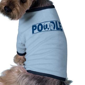 Silueta del caniche ropa perro