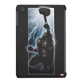 Silueta del carácter del Thor de los vengadores Funda Para iPad Mini