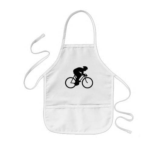 Silueta del ciclista delantal
