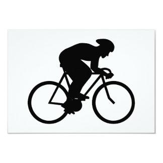 Silueta del ciclista anuncio personalizado