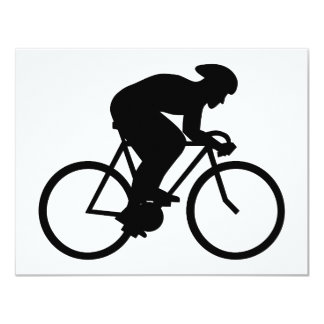 Silueta del ciclista invitaciones personalizada
