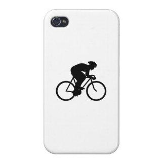 Silueta del ciclista iPhone 4/4S fundas