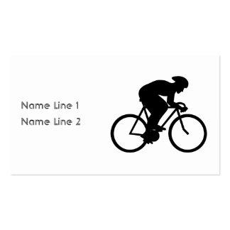 Silueta del ciclista tarjetas de visita