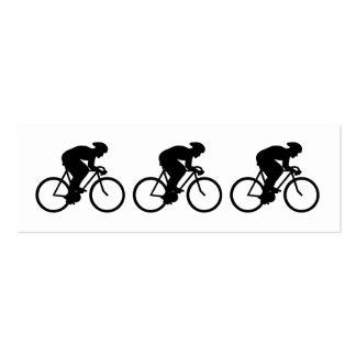 Silueta del ciclista tarjetas de visita mini