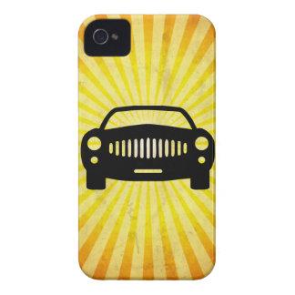 Silueta del coche; Amarillo iPhone 4 Case-Mate Cárcasa