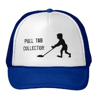 Silueta del colector de la etiqueta del tirón del  gorras