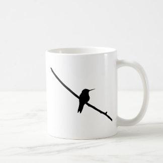 Silueta del colibrí taza de café
