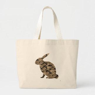 Silueta del conejo del camuflaje bolsa de mano