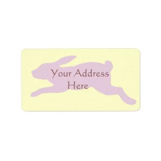 Silueta del conejo etiqueta de dirección