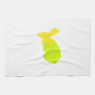 Silueta del conejo toallas