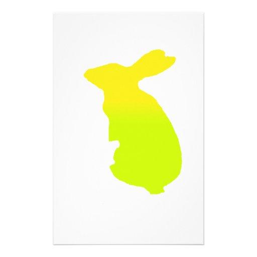 Silueta del conejo personalized stationery