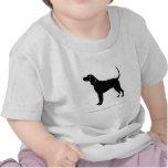 Silueta del Coonhound del inglés americano Camiseta