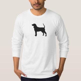 Silueta del Coonhound Poleras
