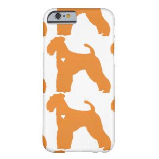 Silueta del corazón del arte del perro del funda de iPhone 6 barely there