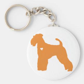 Silueta del corazón del arte del perro del llavero redondo tipo pin