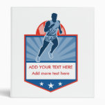 Silueta del corredor de maratón con el escudo