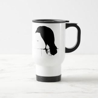 Silueta del cuervo - cuervos y cuervos del gótico  tazas